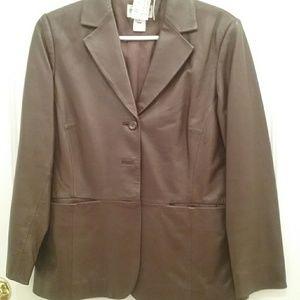 Genuine leather jacket #9